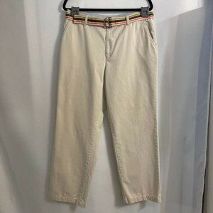 Tommy Hilfiger Womens Chino Pants Beige Pockets Vi